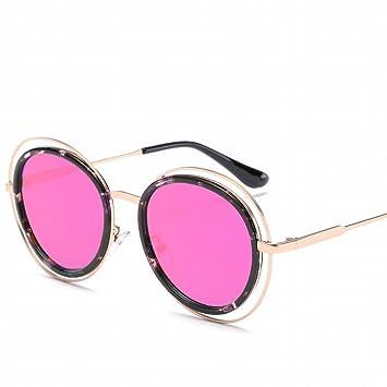 Círculo Marco Color Película Metal Gafas de Sol Hombres Y ...