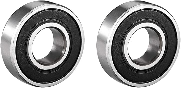 uxcell/® 6001RS 12mm x 28mm x 8mmRubber Sealed Deep Groove Ball Bearing 3 Pcs