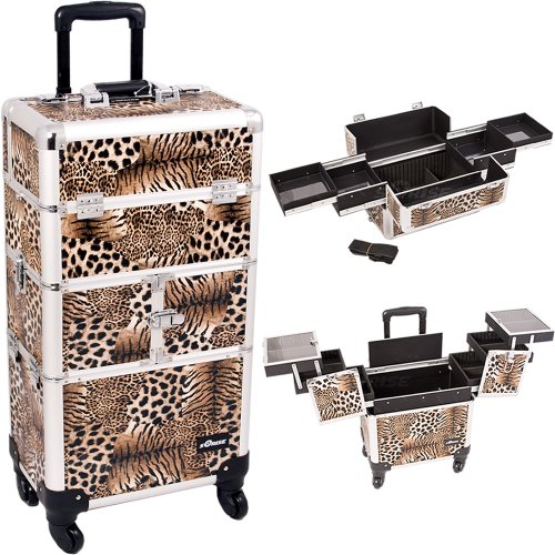Leopard-Printing-Textured-3Tiers-Accordion-Trays-4Wheels-Professional-Rolling-Aluminum-Cosmetic-Makeup-Case-and-EasySlide-Trays-I3164