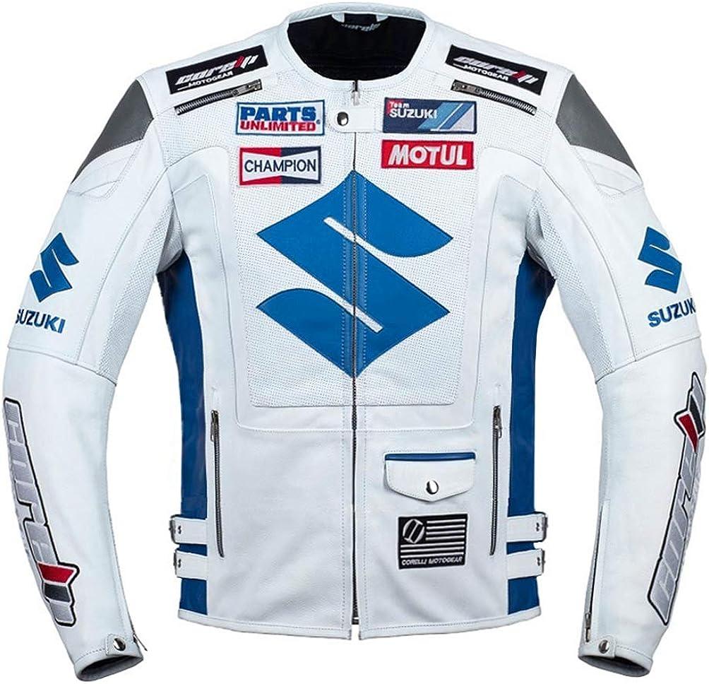 M Suzuki Black Textile Motorcycle Jacket EU50