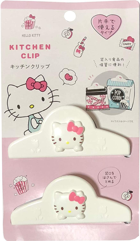 Sanrio Hello Kitty Plastic Sealing Clips Food Snack Bag 10 × 3.9 cm 2pcs set Kitchen