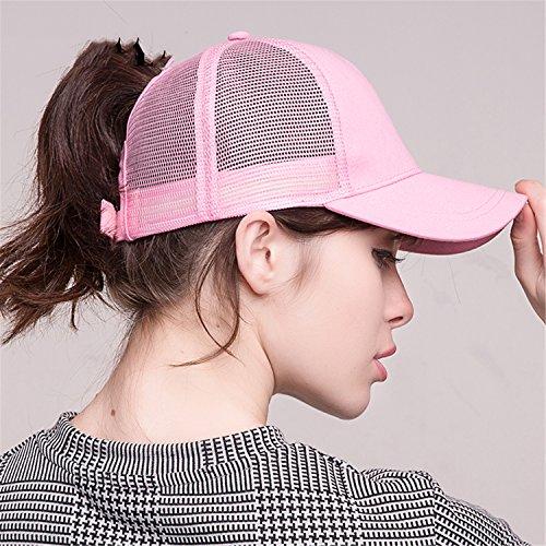 2018 Ponytail Baseball Cap Women Messy Bun Baseball Hat Snapback black by Gome-z Snapback (Image #4)