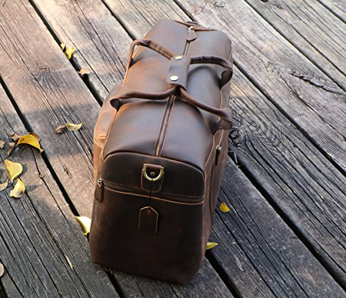 Polare 23'' Duffle Retro Thick Cowhide Leather Weekender Travel Duffel luggage Bag by Polare (Image #3)
