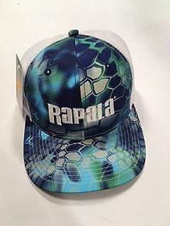 166ac3a2dce4b Amazon.com  Rapala Flex Fit Cap Black White Mesh Center Logo  Sports ...