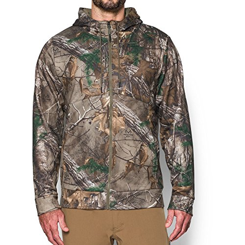 Under Armour Men's Storm Icon Camo Full Zip Hoodie, Realtree Ap-Xtra (946)/Bayou, Small