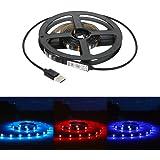 Tomshine Strisce Led Illuminazione RGB 1M 30 LEDs SMD5050 IP65 Impermeabile Porta USB con mini controller