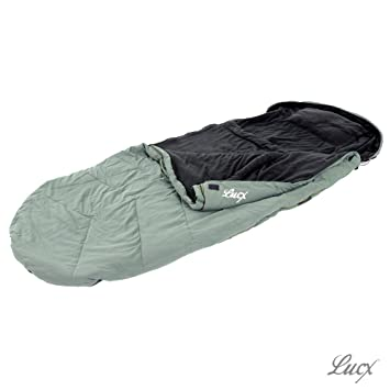 lucx® Saco de dormir nightcat/Sleeping Bag, de hasta 30 grados, dimensiones