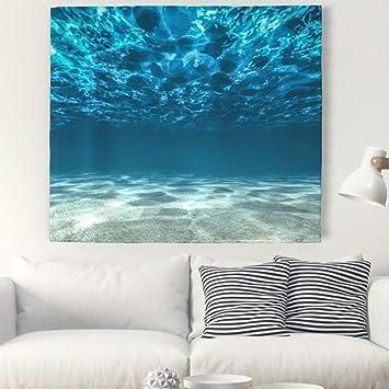 3d Mar Océano pared Alfombra Bajo Agua Paisaje pared adornos pared toalla pared de tapiz mantel Toalla de playa 230x150cm: Amazon.es: Hogar