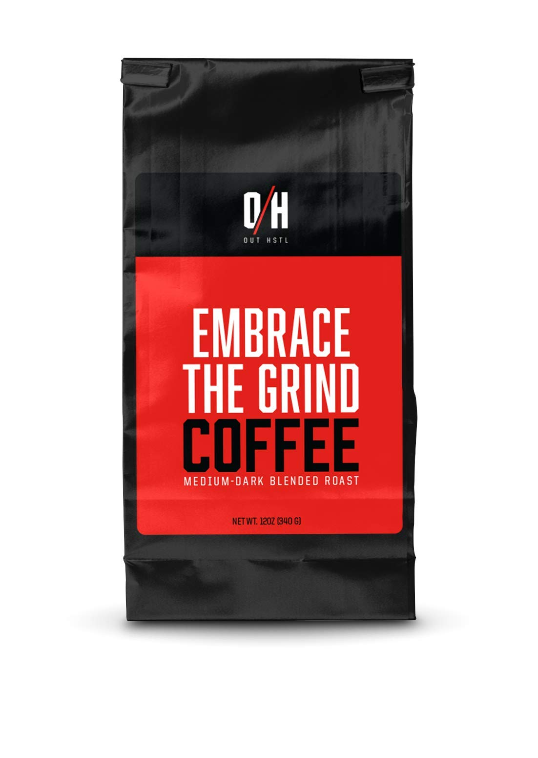outHSTL | Ground Coffee | Medium-Dark Blend Roast | EXTRA-STRENGTH High Caffeine Coffee Blend | All Natural with Added Caffeine | 12 oz by Out HSTL (Image #1)