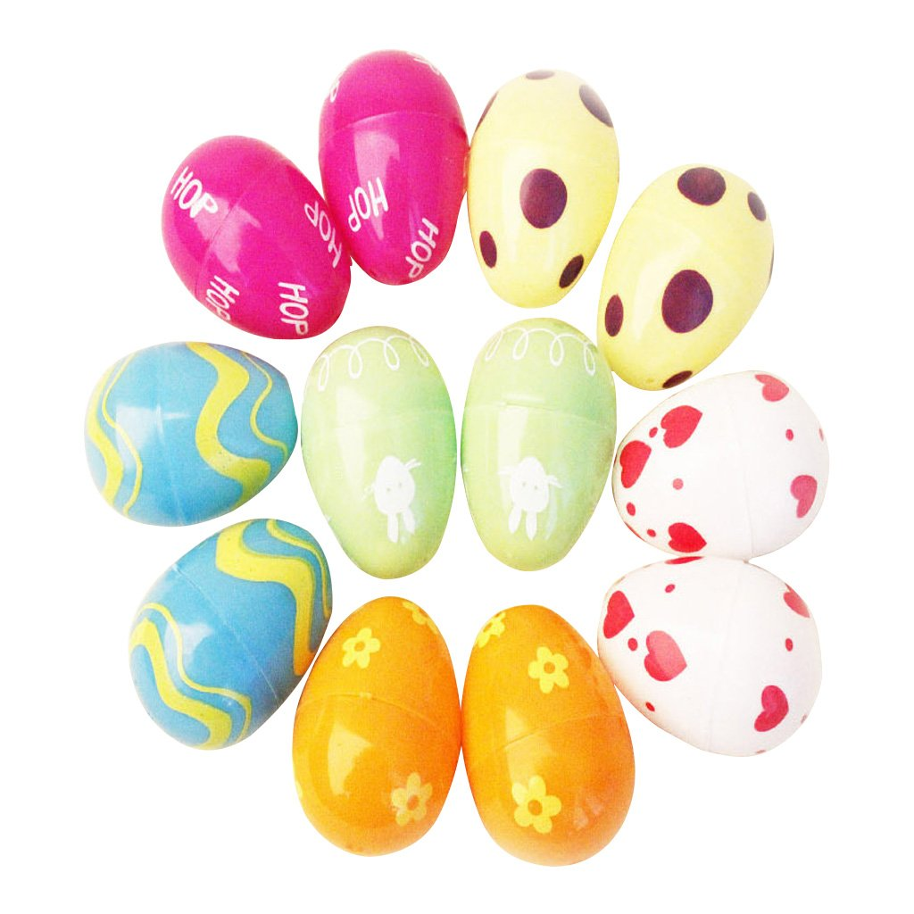 Redriver 12pcsおもちゃFilled Easter Eggs、明るいカラフルなPrefilledプラスチックSurprise Eggs with popular Toys for Easter basket Stuffers   B07BPT6MZ2