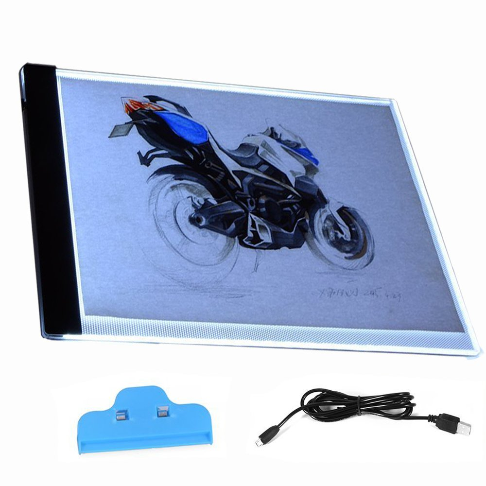 A4 Super Thin LED Copy Board Light Box, Art Craft Tracing Light Table for Tattoo, Sketch, Architecture, Calligraphy, Crafts Sxstar