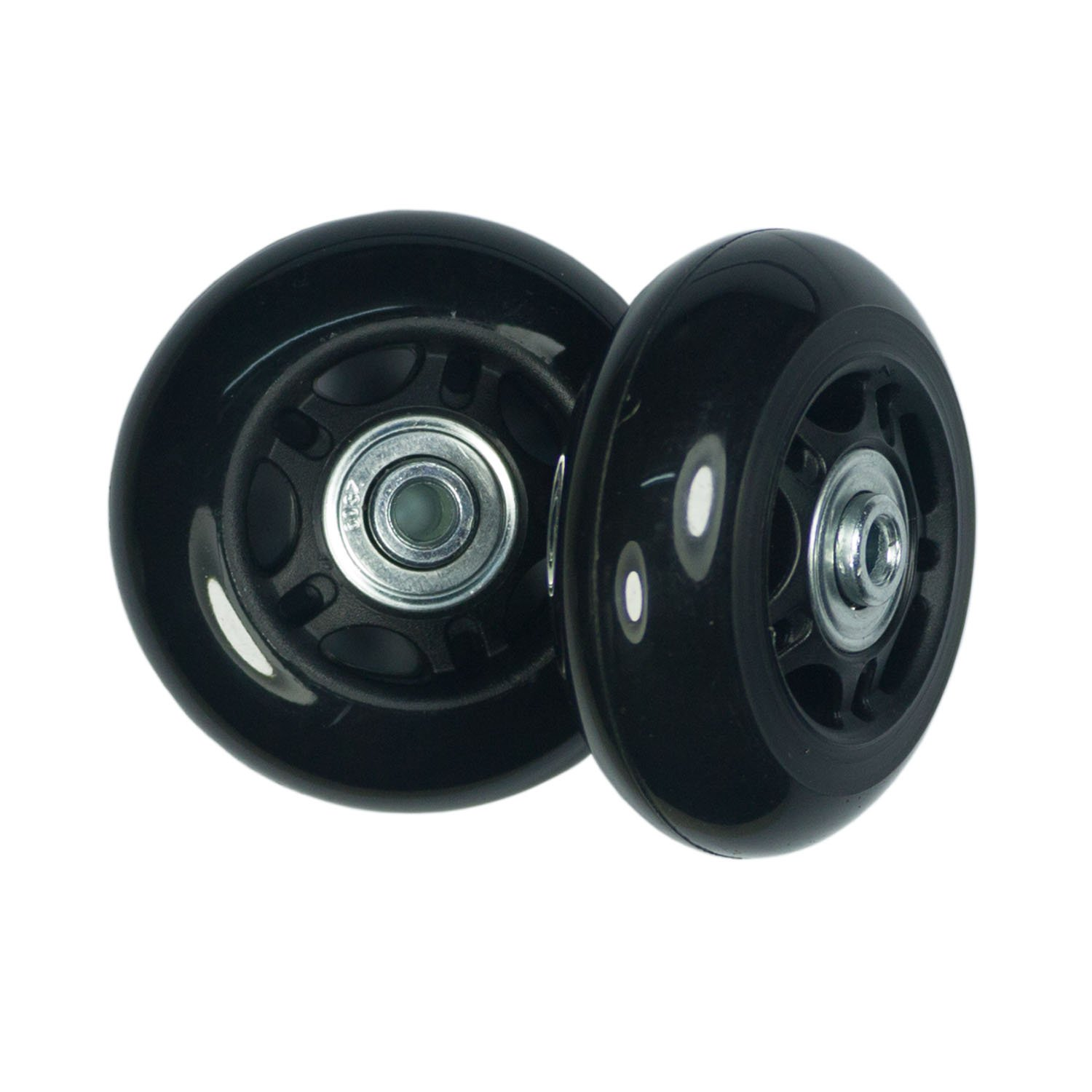 YongXuan Mute Wear-Resistant Luggage Suitcase Replacement Wheels Kit Inline Outdoor Skate Replacement Wheels 68mm /× 24mm