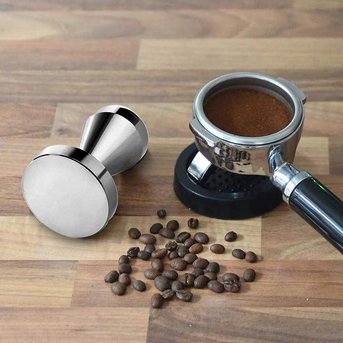 prensa de caf/é expreso 49 mm con alfombrilla de silicona Tamper de caf/é