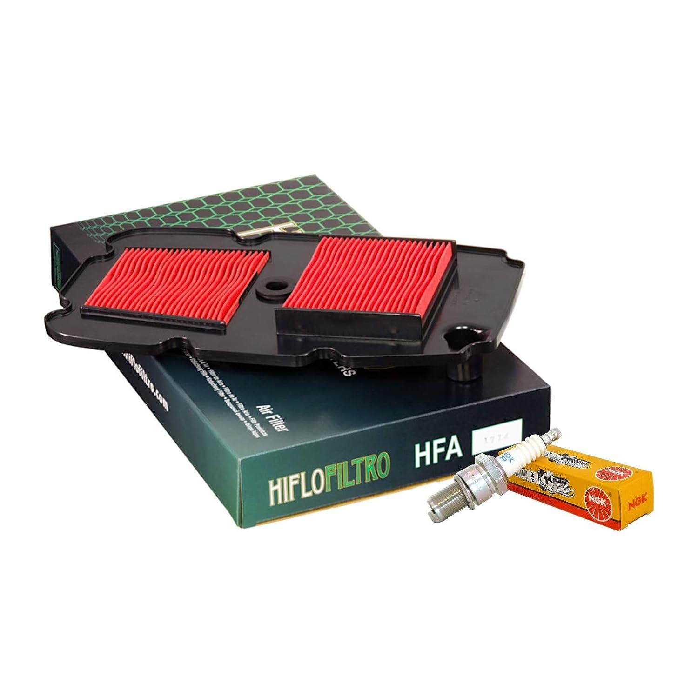 Filtro aria HifloFiltro HFA1714 candele NGK CPR8EA-9 XL 700 V Transalp