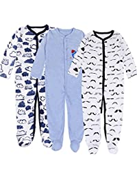 Baby Boy S One Piece Footies Amazon Com