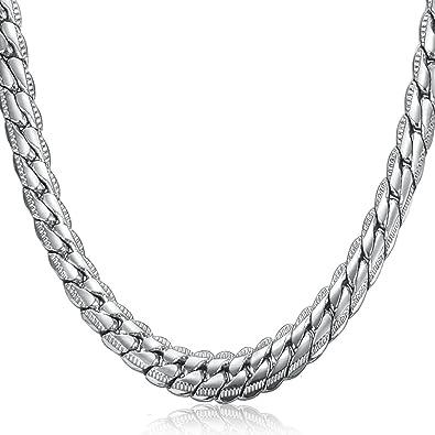sailimue Joyería Acero Inoxidable 6.5mm Collar Hombre Cadena para Hombres Mujer 46cm 56cm 66cm