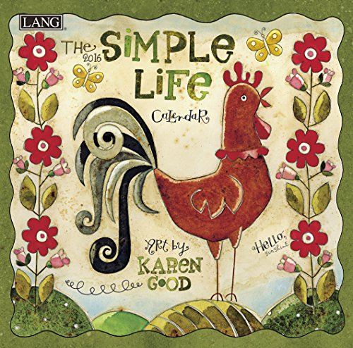 Lang Simple Life 2016 Mini Wall Calendar by Karen H. Good, January 2016 to December 2016, 7 x 14 Inches (1079245)
