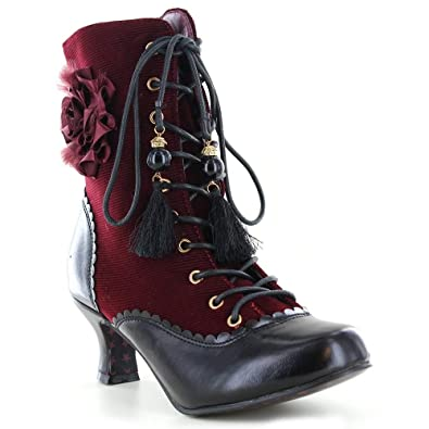 d8849abf052 Joe Browns Ladies Womens Lace up Low Heel Floral Couture Court Ankle Boots  Shoes Size 5-8