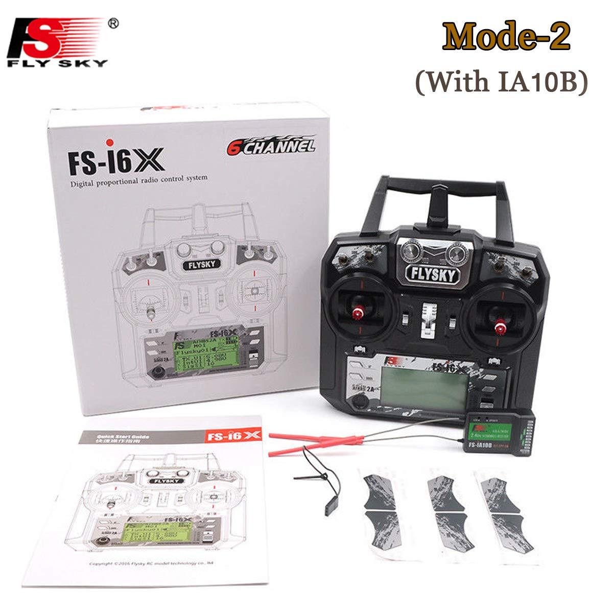 Flysky FS-i6X 10CH 2.4GHz AFHDS RC Transmitter mit FS-iA10B Empfänger ( Modus-2 Left Hand Throttle ) B06VV8NVKK Funk & -zubehör Viele Stile | Vollständige Spezifikation