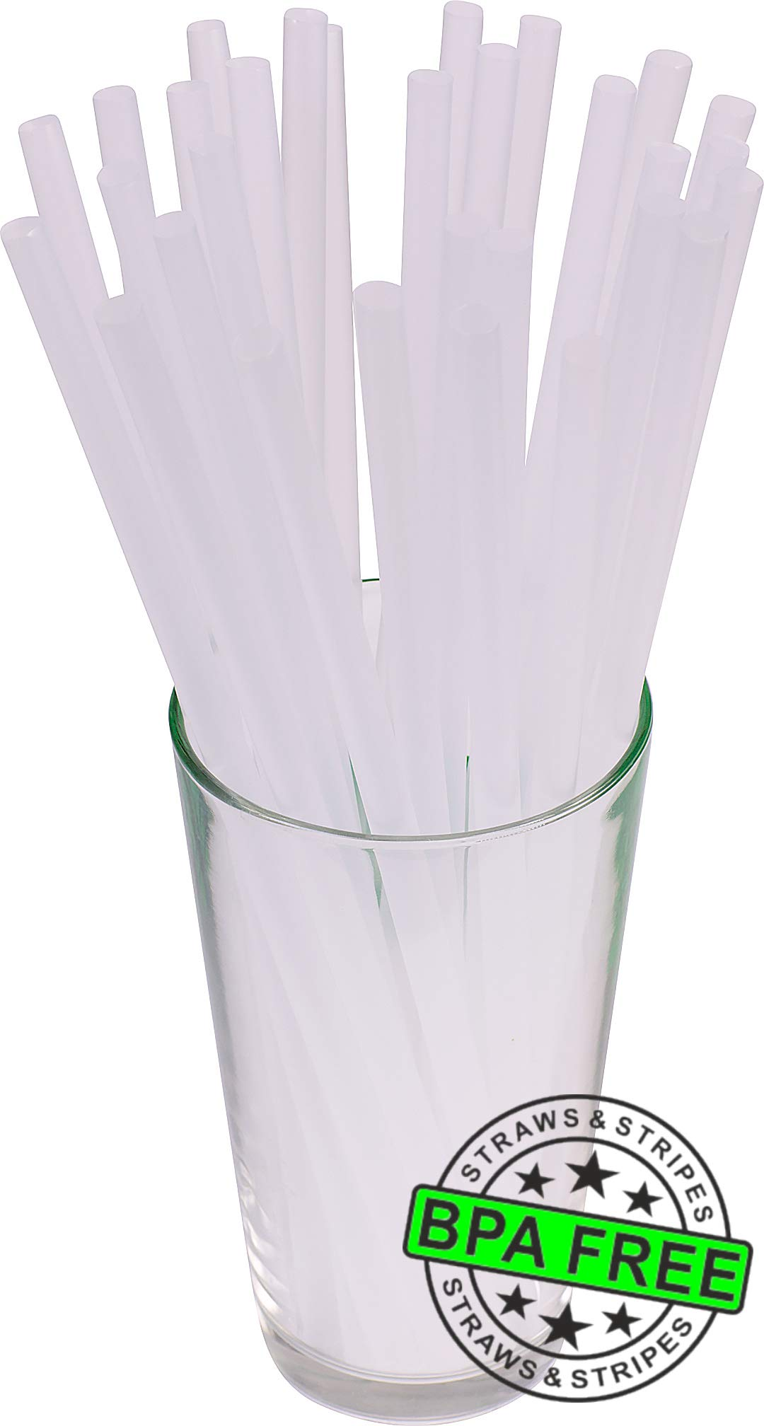 3,250 Giant Drinking Straws 10 Inch X 0.31 Inch (Clear) by florida-drinking-straws