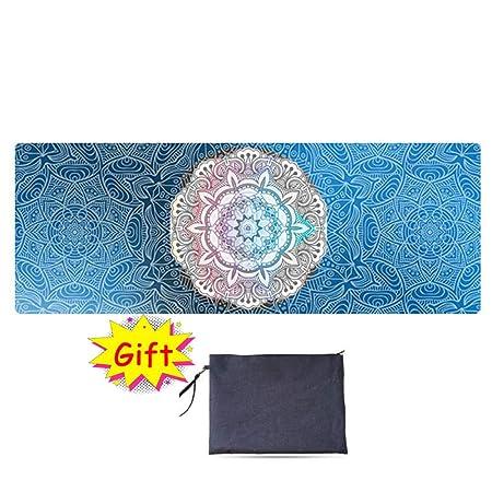 Toalla de Yoga de Goma Natural Antideslizante Microfibra ...