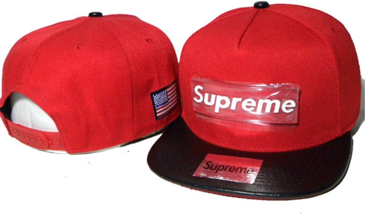 Supreme Snapback sombreros y protecciones (Rojo con logo de metal ...