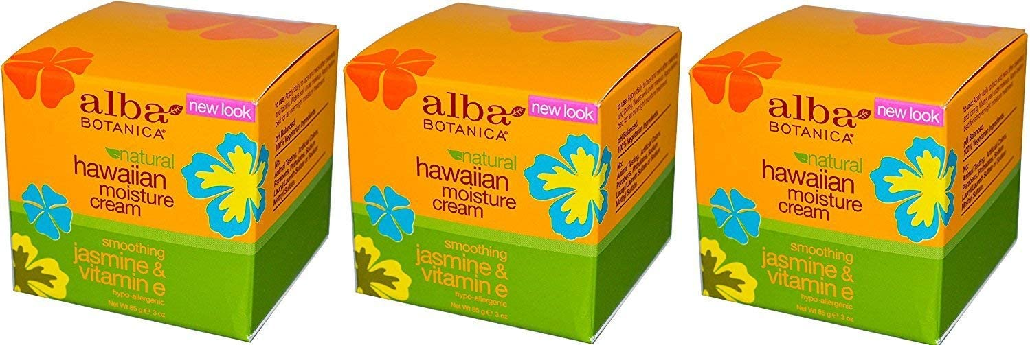 Alba Botanica Jasmin & Vitamin E Moisture Cream , 3 oz. (Set of 3)