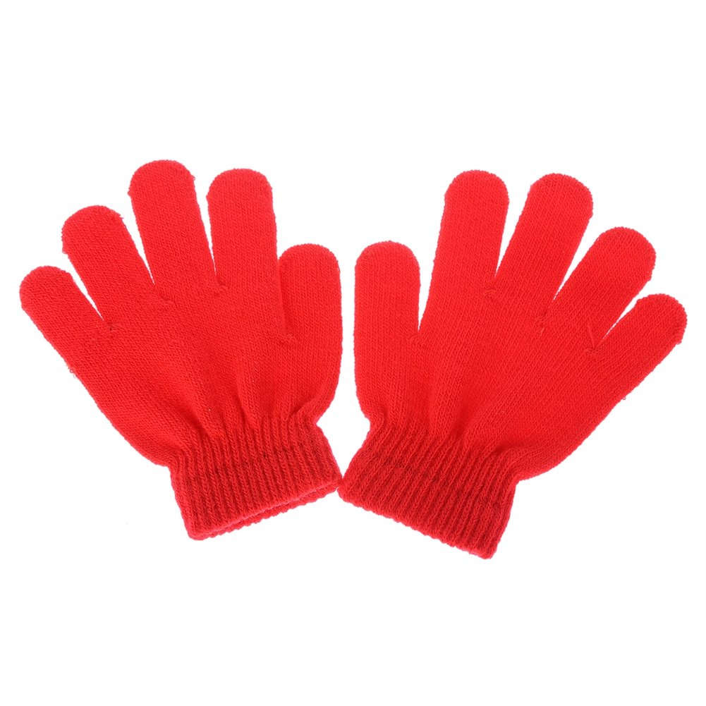 LAIMIO Kids Winter Warm Magic Gloves Children Stretchy Warm Knit Glovers 5 colors available Only One, 5 Pairs