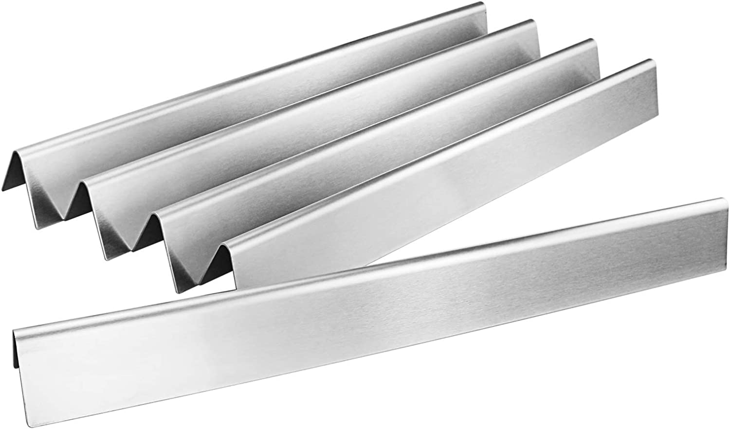 Uniflasy 22.5 Inch Flavorizer Bars for Weber Spirit 300 with Side Control, Spirit E310, E320, Genesis Gold Silver Platinum B/C, Spirit 700, Weber 900, Stainless Steel Heat Plates for Weber 7537, 7536