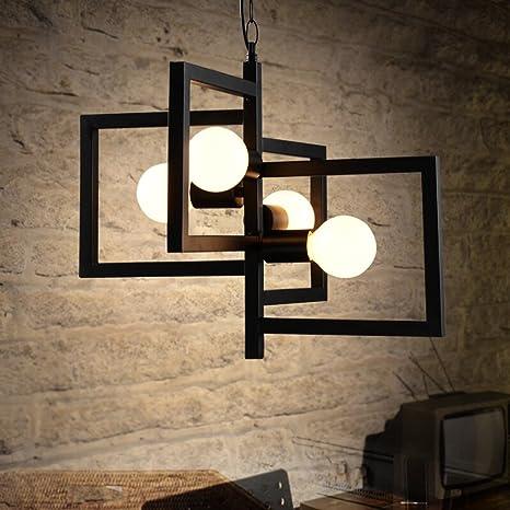 XSPWXN Ferro artigianale fai da te lampadario moderna semplice lampadario  creativo europeo pastorale lampada da salotto
