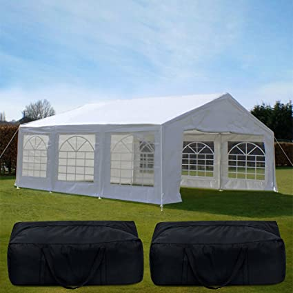 huge selection of 5557f b566b Quictent 20' x 20' Heavy Duty Outdoor Gazebo Party Wedding Tent Canopy  Carport Shelter with 3 Carry Bags (20x20, White)