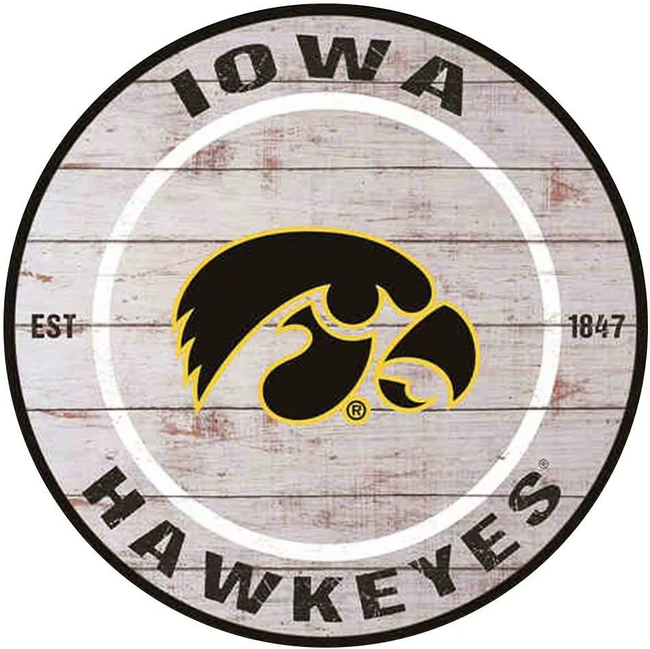 YOMIA Tin Signs Vintage Iowa Hawkeyes Metal Signs for Man Cave Signs and Decor 12X12 Inches