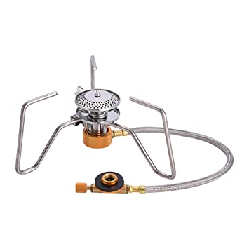 Hornillo de Gas Portátil Ultraligera de la Mochila Hornillo de Butano con la Ignición de Cerámica