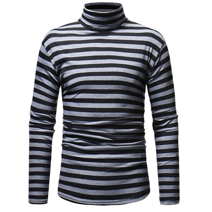 Amazon.com: Longra - Camiseta de manga larga para hombre ...