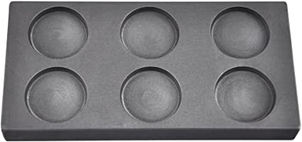 1 Grain Round Gold Graphite Ingot Coin Mold 150 Multicavity for Melting Casting Refining Scrap Metal Jewelry