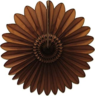 product image for 3-Pack 18 Inch Tissue Paper Fanburst (Brown)