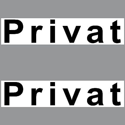2 Pegatinas Privado PVC Pegatinas 20 cm Nota Cartel para ...