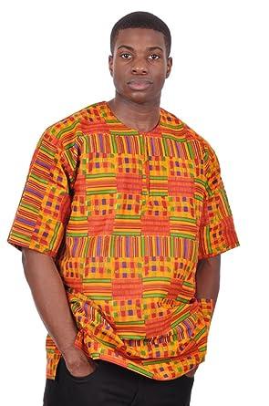 Unisex Kente Shirt African Print 3VdFVsYy