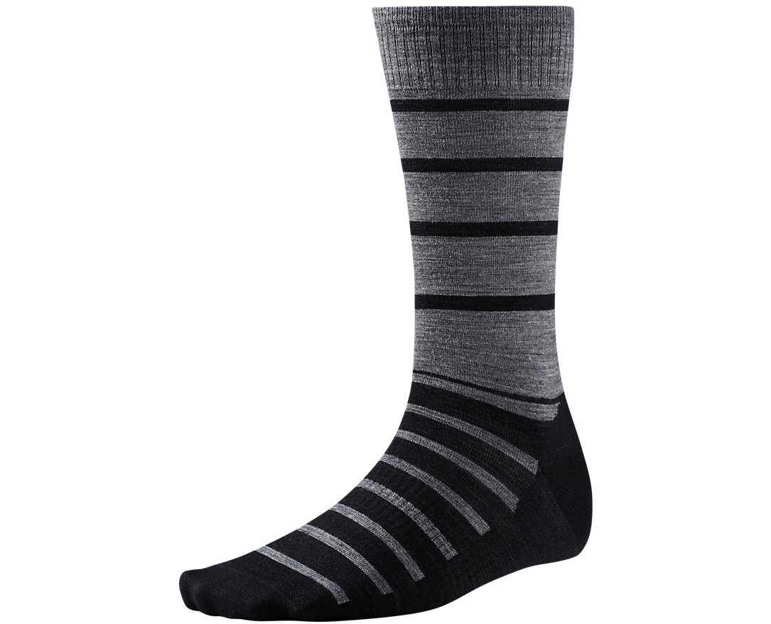 Smartwool Men's Divided Duo Crew Black Socks LG (Men's Shoe 9-11.5)