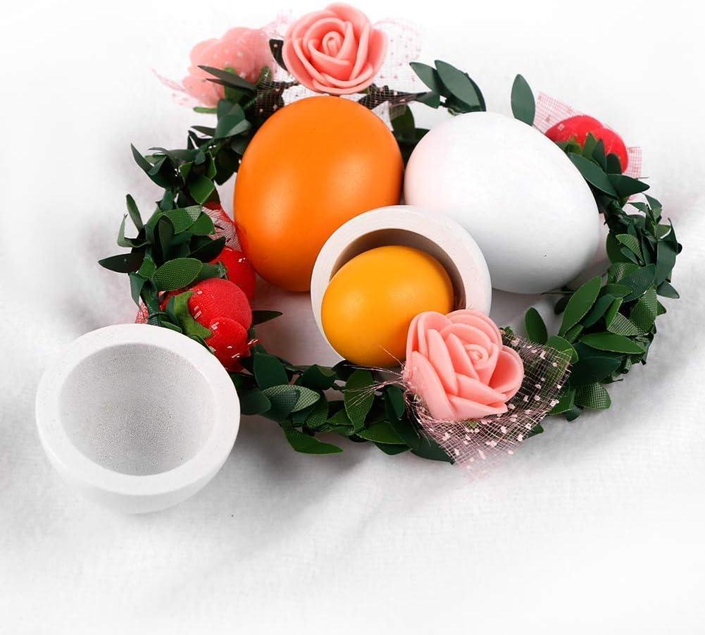 giocattolo da cucina uova di Pasqua giocattolo per lapprendimento prescolare Set di uova simulate in legno set di 6 pezzi in legno