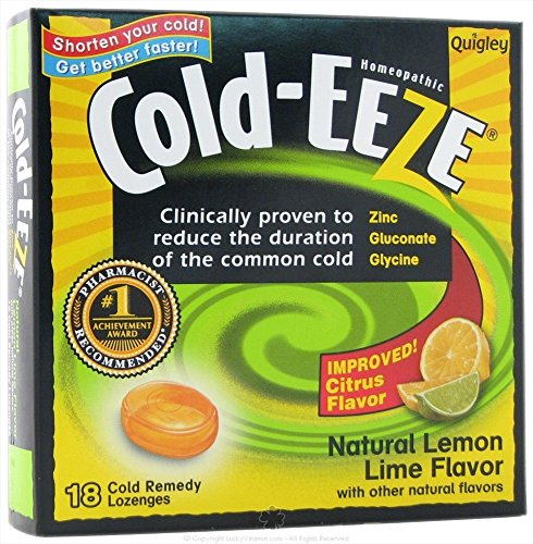 Cold-Eeze Quigley Cough Suppressant Drops Box with Citrus Flavor - 18 Ea, 3 (Cold Eeze Cough Drops Box)