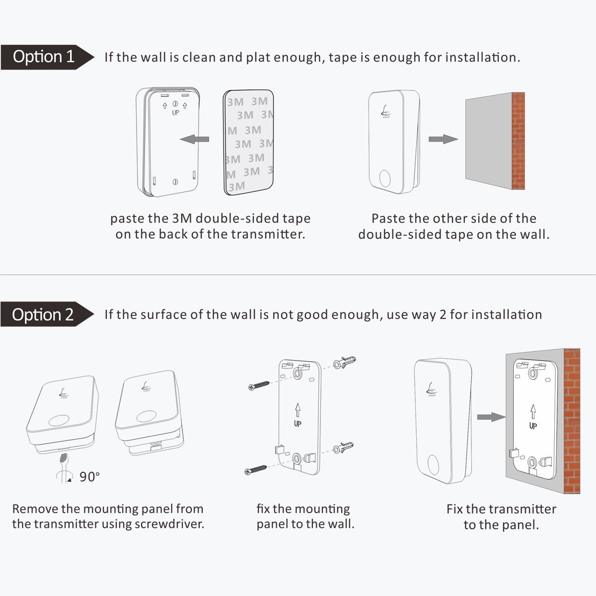 Self Powered Wireless Doorbell Kitlinbell G4 1 Set Push Button Wiring Diagram One Two Chimes Plug