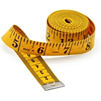 AmzBarley 120 Inch 3m Soft Tape Measure Ruler Sewing Tailor Tool Cloth Body Size Measurement Flexible Yellow