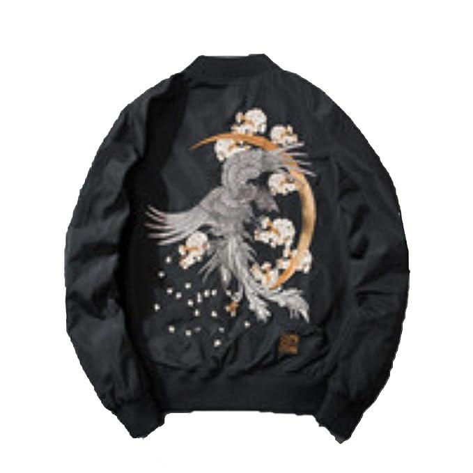Amazon.com: Chaqueta para hombre bordada Phoenix con diseño ...