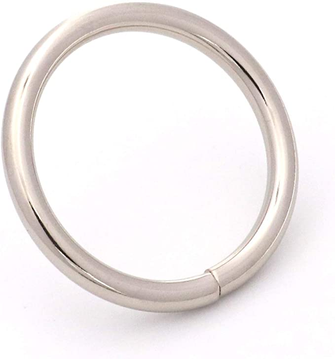 Shoes and Belt Straps BIKICOCO 1-1//4 Metal O Ring Non Welded for Bags Collars Pack of 10 Silver