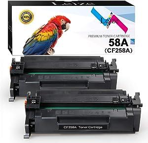 Leize Compatible Toner Cartridge Replacement for HP 58A CF258A HP Laserjet Pro M404n M404dn M404dw MFP M428fdn M428fdw M428dw M304 Printer Toner (Black, 2-Pack)
