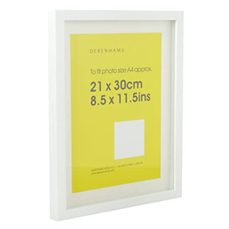 Debenhams White 21 X 30Cm A4 Block Photo Frame: Amazon.co.uk ...