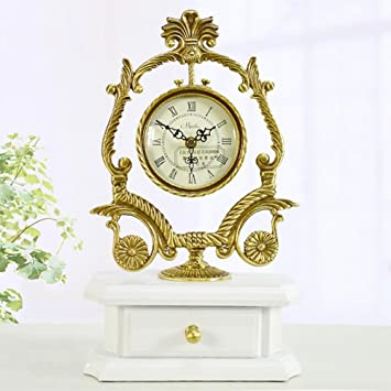 MCC Brass Table Clock European Antique Style Silent Modern Living Room  Bedroom Decoration Fashion Creative Clock