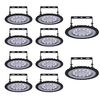 Yuanline 10x 50W UFO Iluminación LED Alta, Lámpara Industrial Ultra Delgada,Lámpara Industrial de