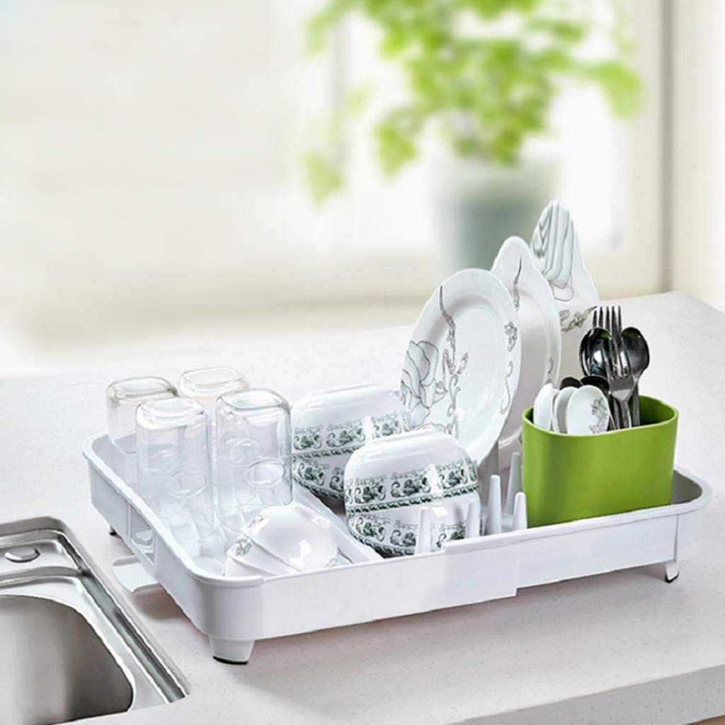 1KTon Cutlery Drain Rack Adjustable Multifunctional Kitchen Tableware Placement Rack by 1KTon